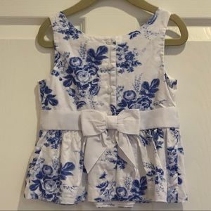 Janie and Jack Floral Top girls 4